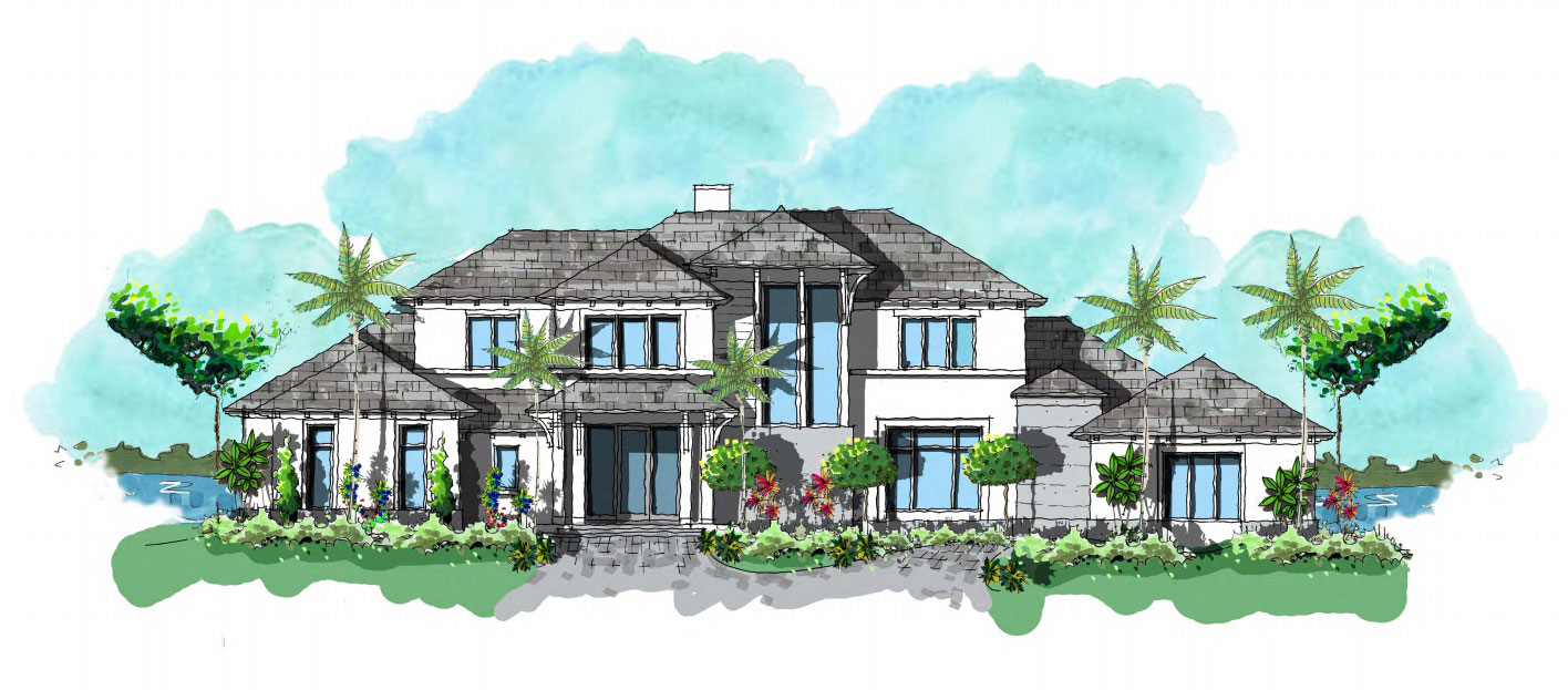 New home construction in Estuary at Grey Oaks