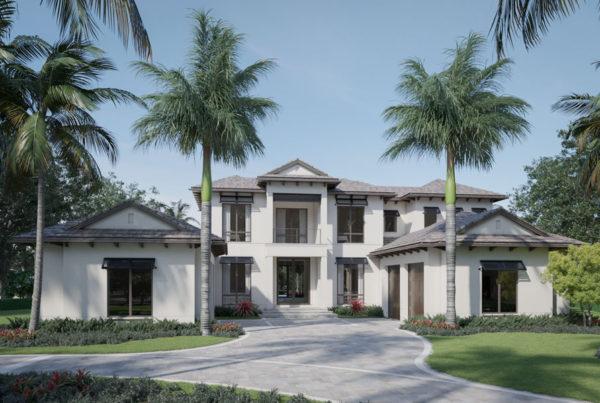 The plumbago Model front elevation at Diamond Custom Homes